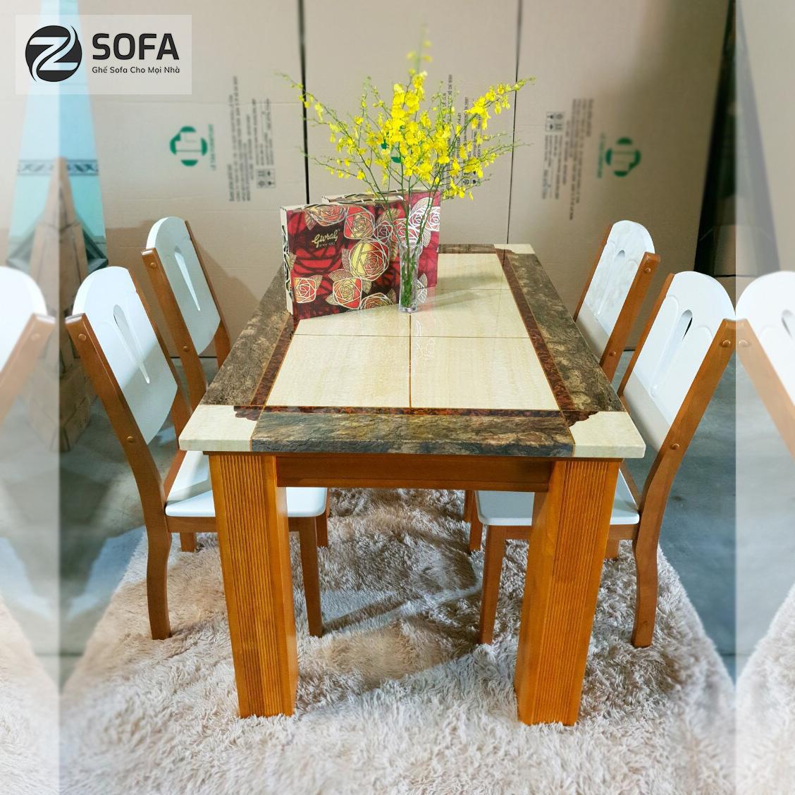 Bàn ghế ăn mặt đá ZA-173